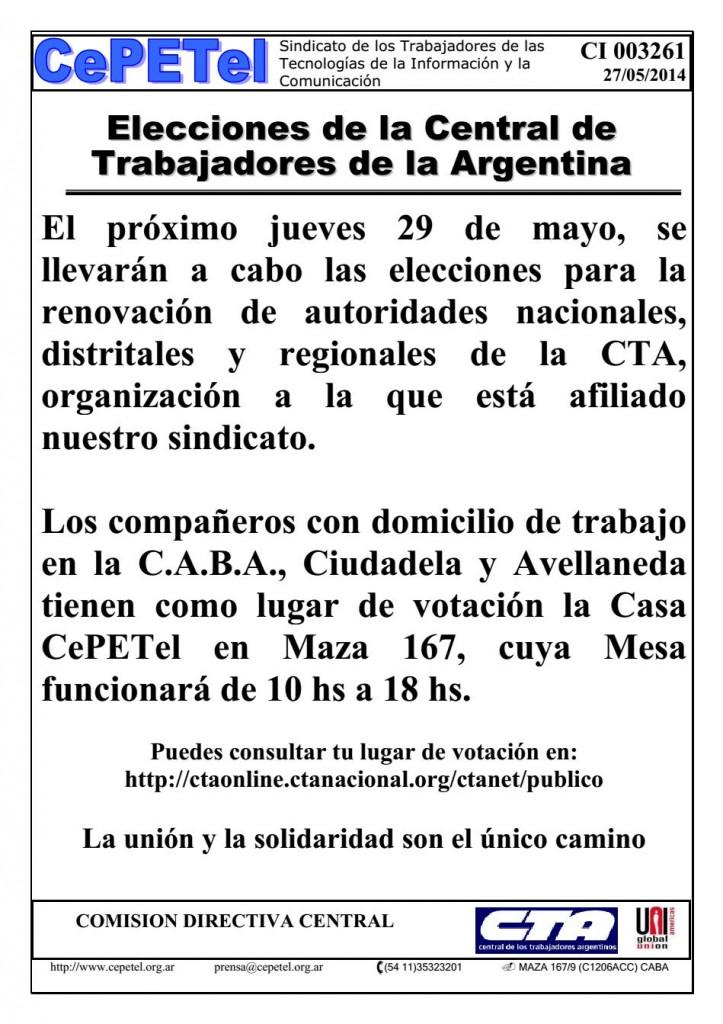 CI-27-05-14 EleccionesCTA