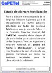 CI3333 Estado de alerta en Teco y Personal