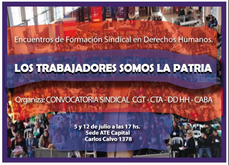 Afiche Encuentros de Formación Sindical en Derechos Humanos