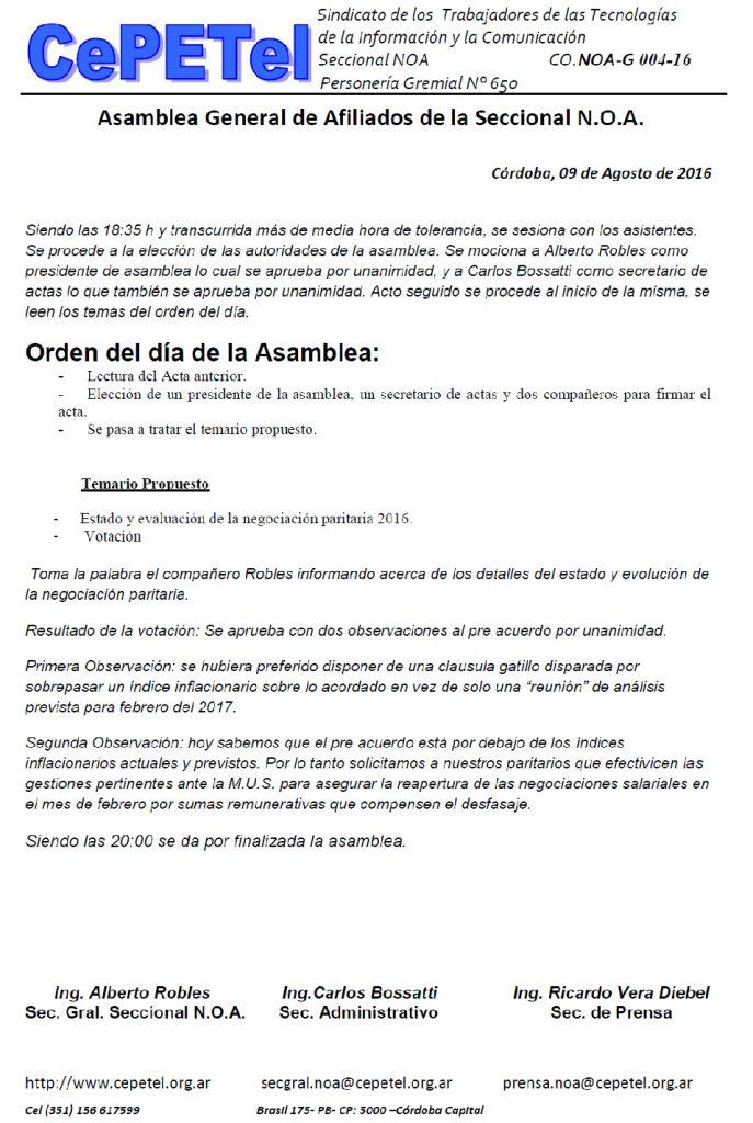 Acta Asamblea Paritaria NOA 09082016