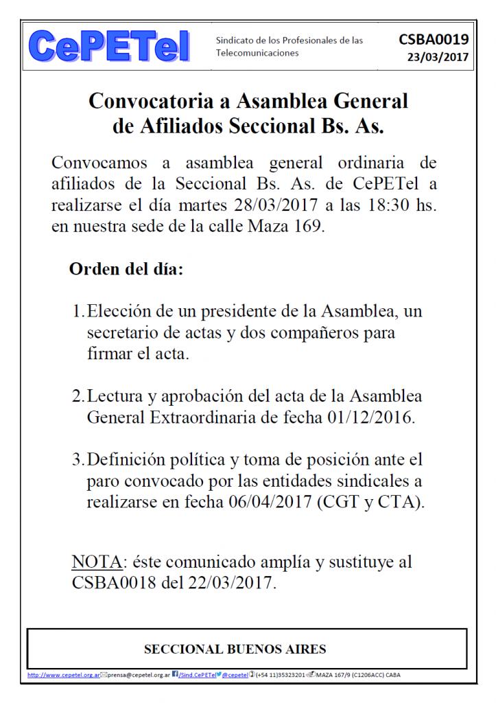 CSBA-0019 - Convocatoria Asamblea BA - martes 28-03-2017 modif