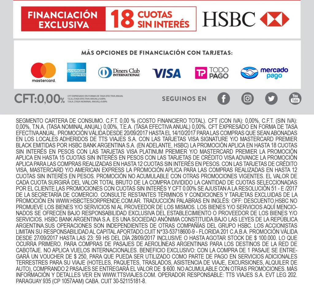 Financiación exclusiva y Condiciones