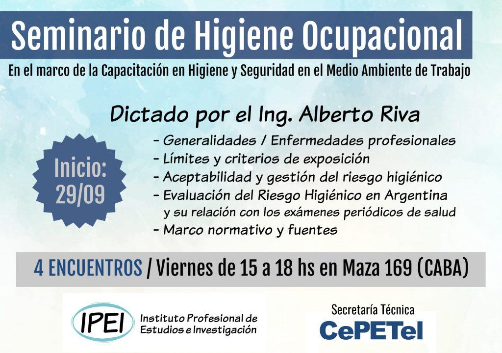 Flyer - Seminario Higiene Ocupacional