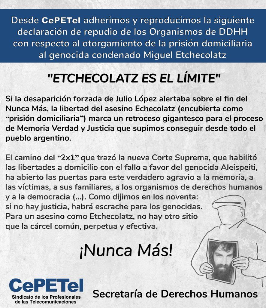 Declaración Repudio - CePETel