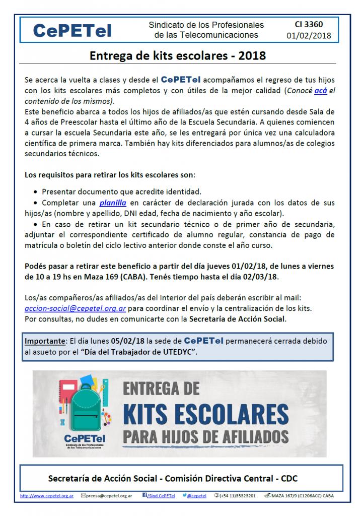 CI 3360 - Entrega de Kits Escolares 2018