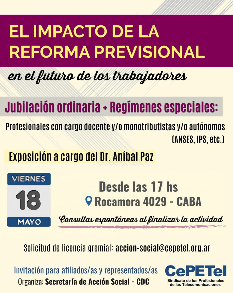 Flyer - Reforma previsional