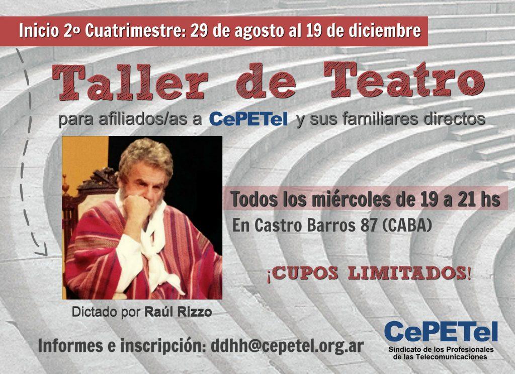Taller de Teatro - Flyer