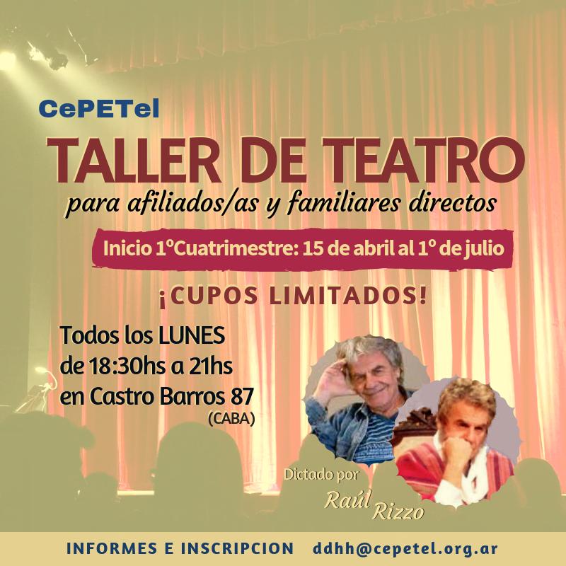 Taller de Teatro con Raúl Rizzo