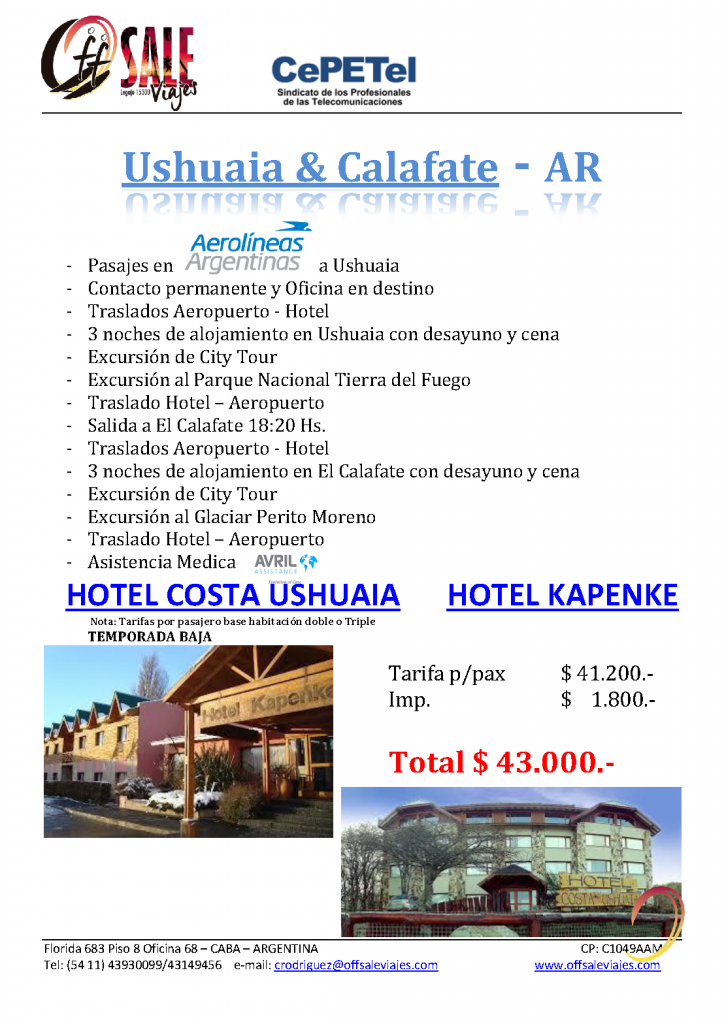 Dic19-Usuahia-y-Calafate-Cepetel