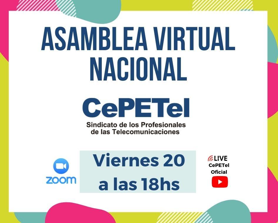 ASAMBLEA VIRTUAL NACIONAL - 20 - 11 - 2020