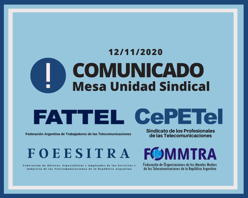 COMUNICADO DE LA MUS 12-11-2020 – EL MINISTERIO DE TRABAJO EXTENDIÓ LA CONCILIACIÓN OBLIGATORIA