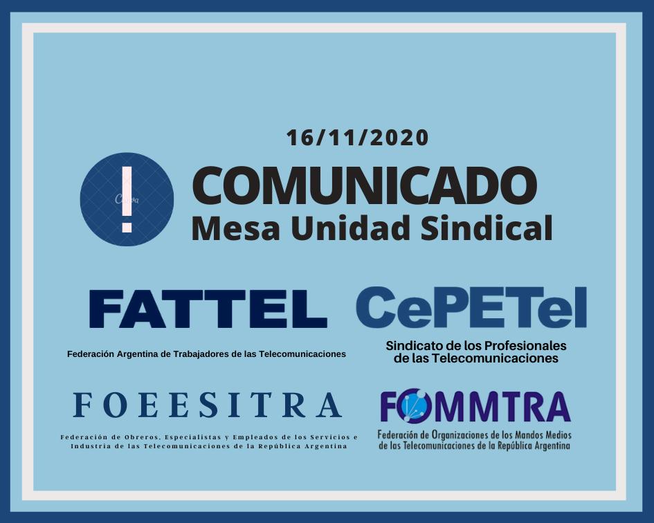 COMUNICADO DE LA MUS 16-11-2020