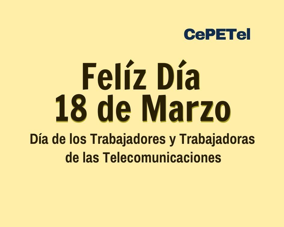 El próximo Jueves 18 de marzo festejamos el Día del Telefónico.