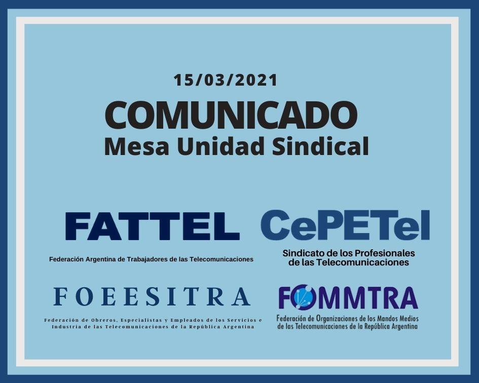 COMUNICADO DE LA MUS SOBRE EL PREACUERDO PARITARIO 2020/2021