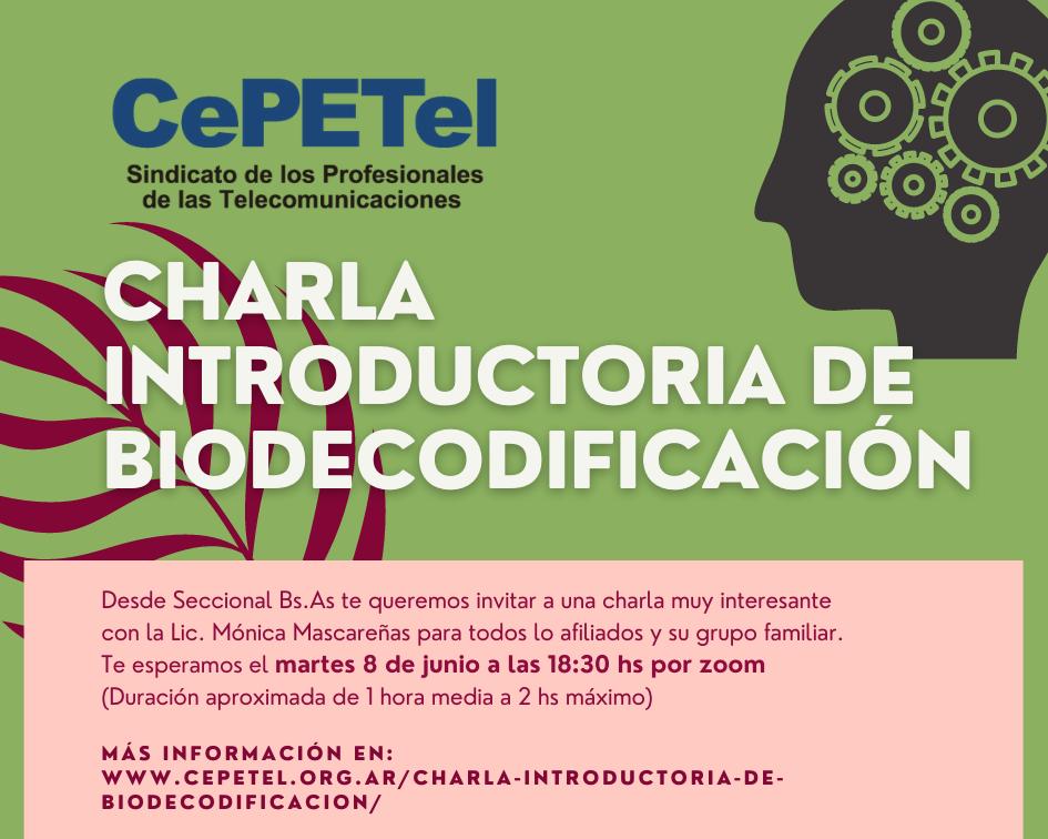 Charla introductoria de Biodecodificación