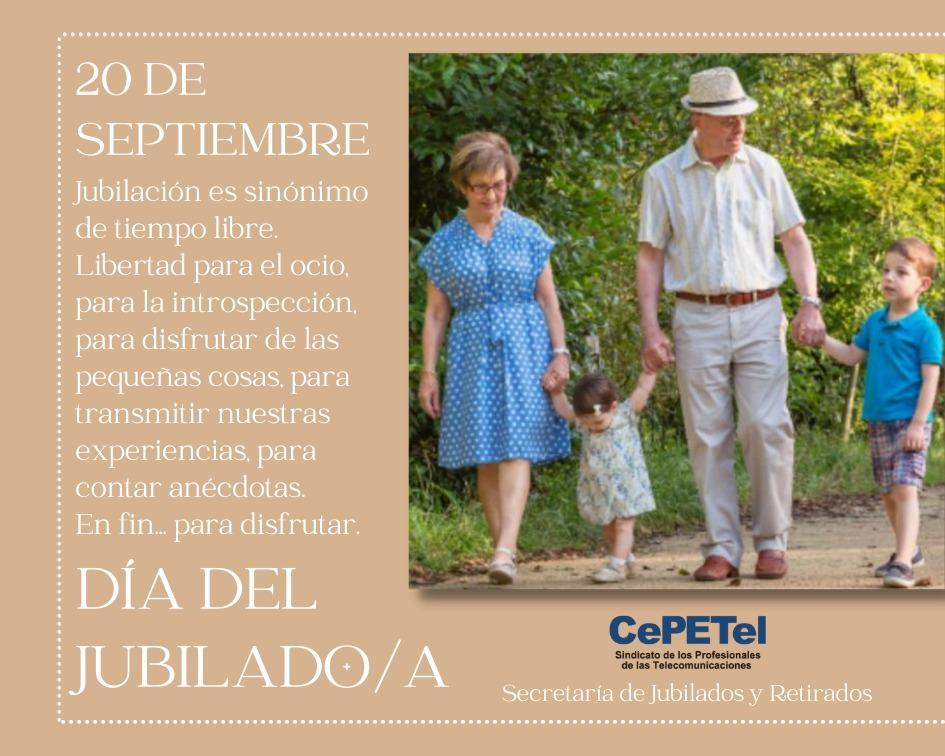 20 de septiembre Día del Jubilado